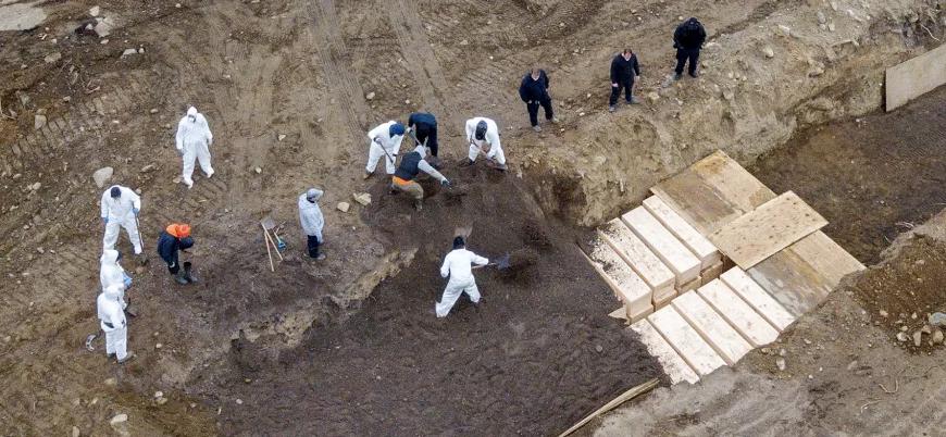 New York'taki koronavirüs vakaları tüm ülkeleri geçti: Toplu mezarlar kazılıyor