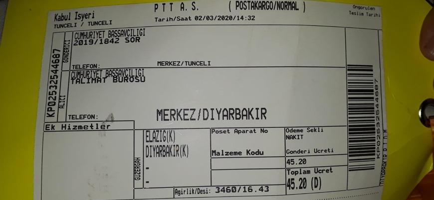 Tunceli'deki çatışmada öldürülen PKK'lının cesedi PTT kargo ile evine gönderildi