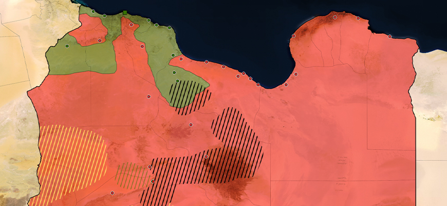 Libya situation map (April 2020)