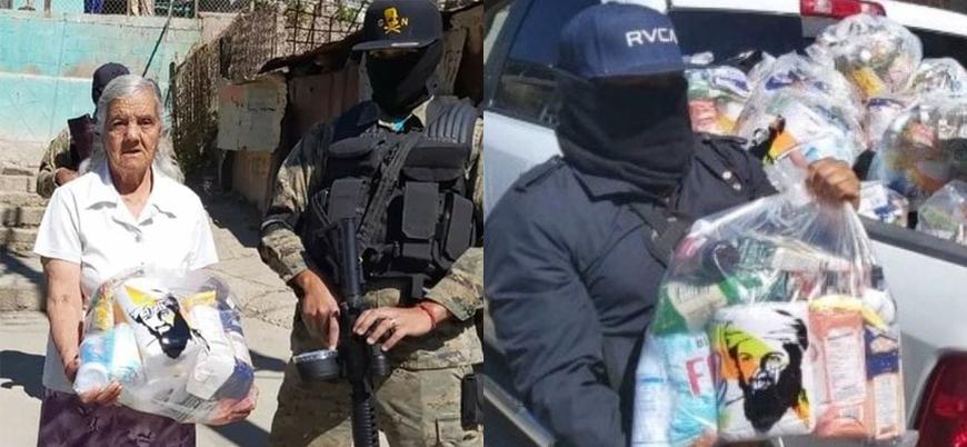 Meksika'da halka 'Usame bin Ladin' fotoğraflı yardım dağıttılar