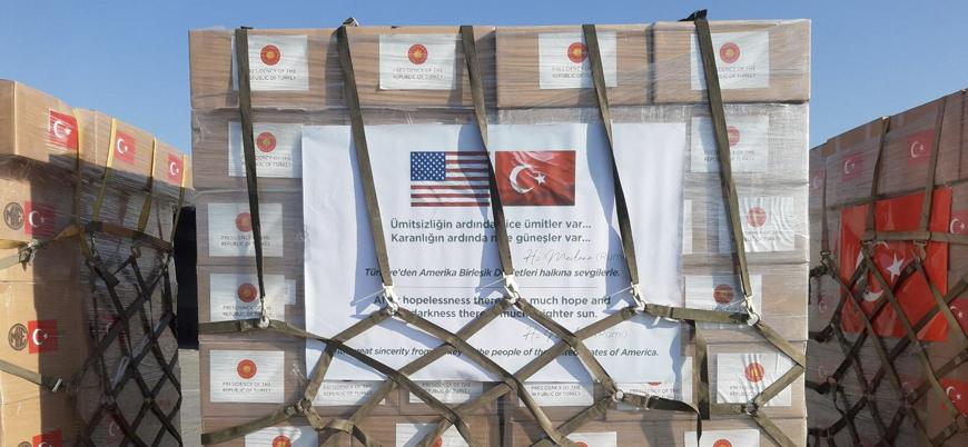 Türkiye'den ABD'ye ikinci tıbbi yardım uçağı