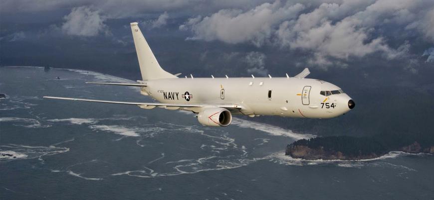 ABD'nin yüksek teknoloji askeri gözlem uçağı P-8A Poseidon Suriye semalarında