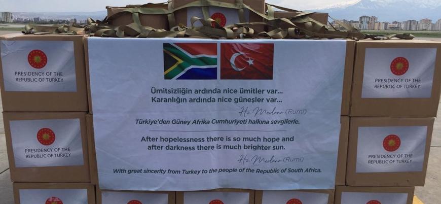 Türkiye'den Güney Afrika'ya koronavirüs yardımı