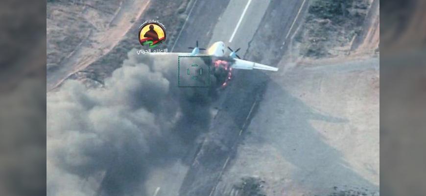 Türkiye destekli UMH Hafter'e mühimmat taşıyan kargo uçağını vurdu