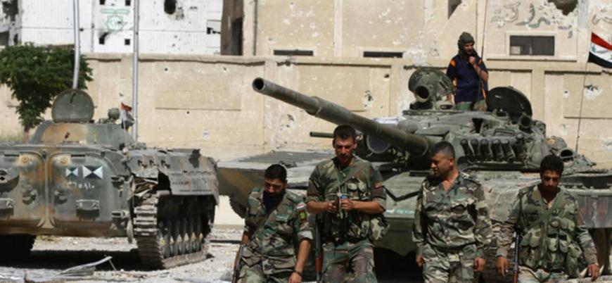 Esed güçleri Suriye'nin güneyindeki Dera'da saldırı başlattı