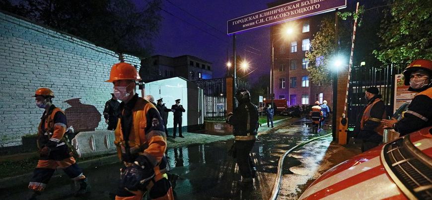 Rusya'da koronavirüs hastanesinde yangın