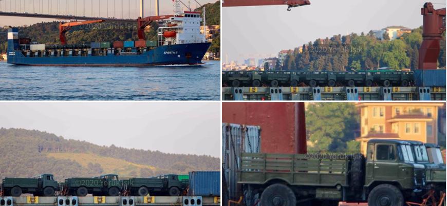 Rusya'nın Esed rejimine gönderdiği askeri kargo gemisi İstanbul Boğazı'ndan geçti