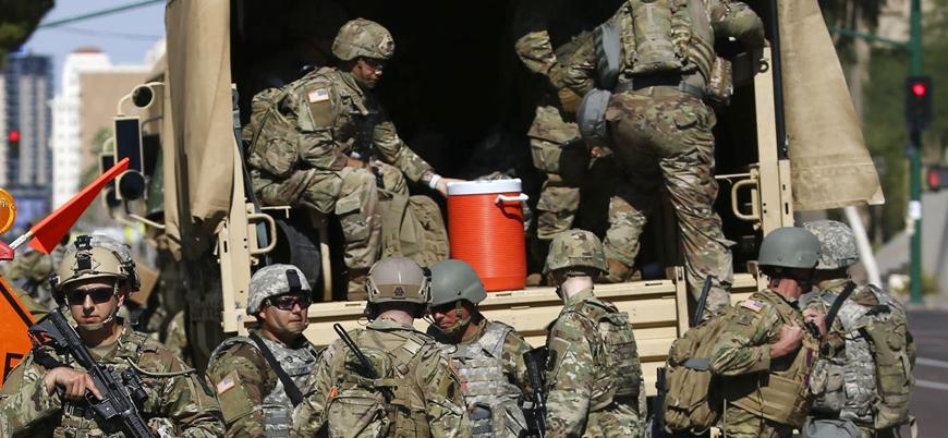 Pentagon'dan başkent Washington'a 1600 asker sevkiyatı