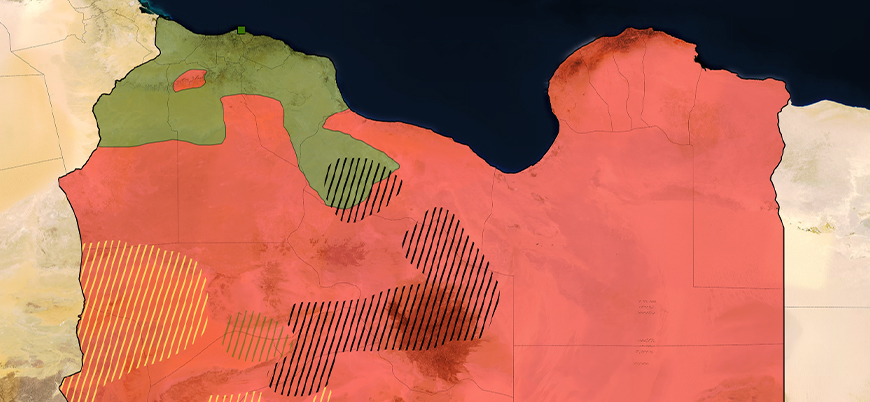 Libya situation map (June 2020)