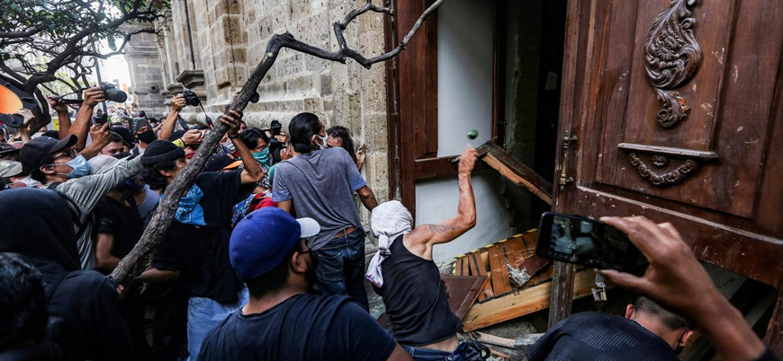 ABD'deki ırkçılık karşıtı gösteriler Meksika'ya sıçradı
