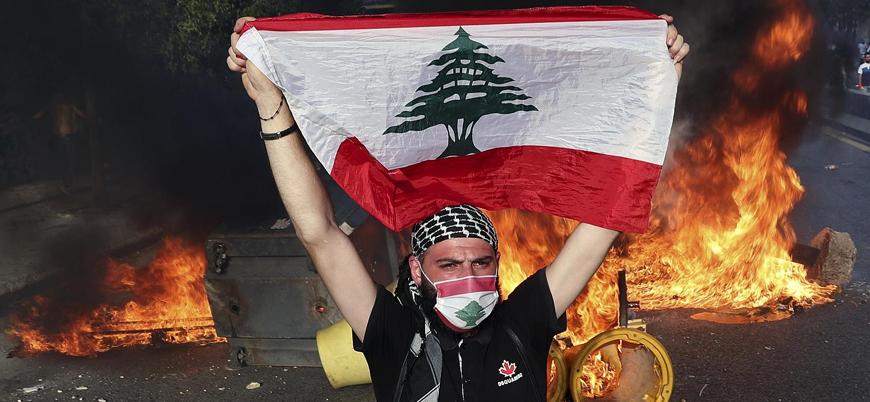 Lübnan'daki gösterilerde Hizbullah'ın silahsızlandırılması gündemde