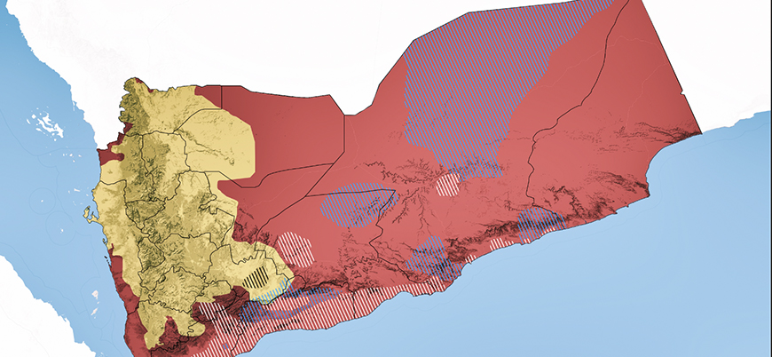 Yemen situation map (June 2020)