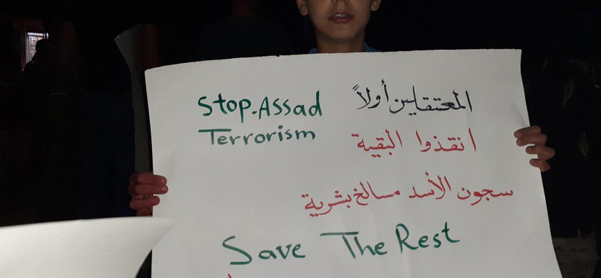 Dera'da halk Esed rejimine karşı sokaklarda