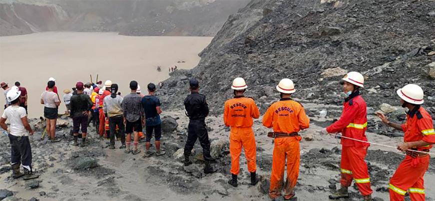 Myanmar'da madende göçük: En az 160 ölü