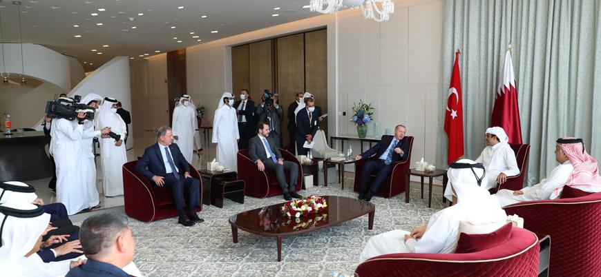 Cumhurbaşkanı Erdoğan Katar Emiri Şeyh Temim ile görüştü