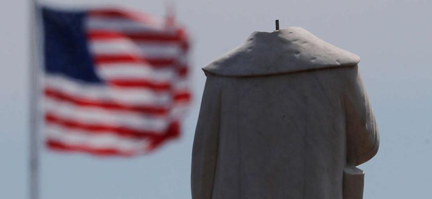 ABD kendi tarihiyle yüzleşiyor: Kristof Kolomb'un heykeli suya atıldı