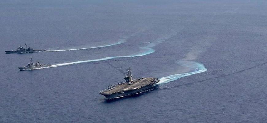 ABD Çin savaş gemilerinin görüş mesafesinde tatbikat yaptı