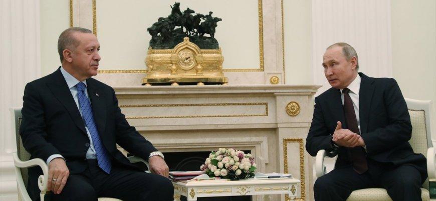 Erdoğan ile Putin Suriye ve Libya'yı görüştü