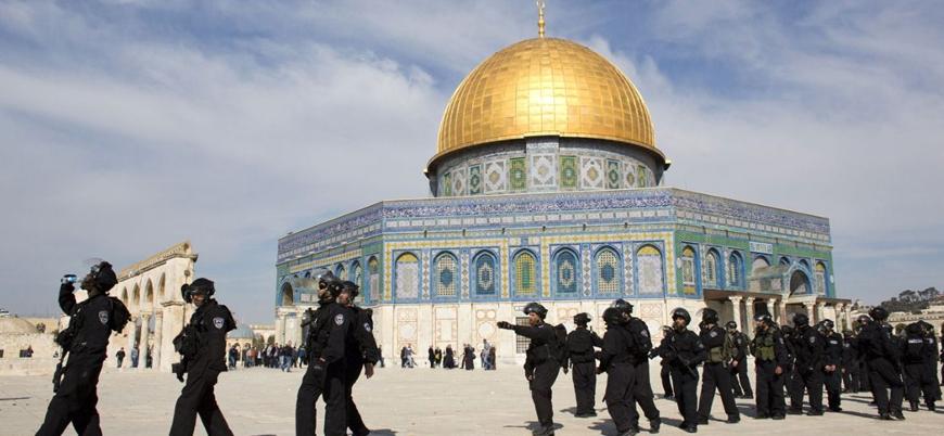 Hamas: İsrail'in Mescidi Aksa'ya el uzatması savaş fitilini ateşler