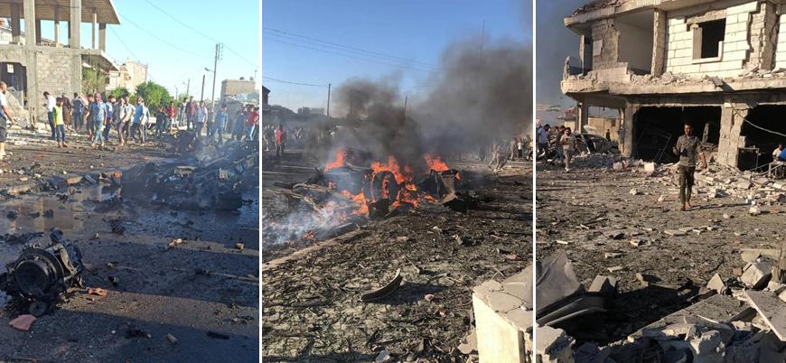 Türkiye'nin kontrolündeki Azez'de bombalı araç saldırısı