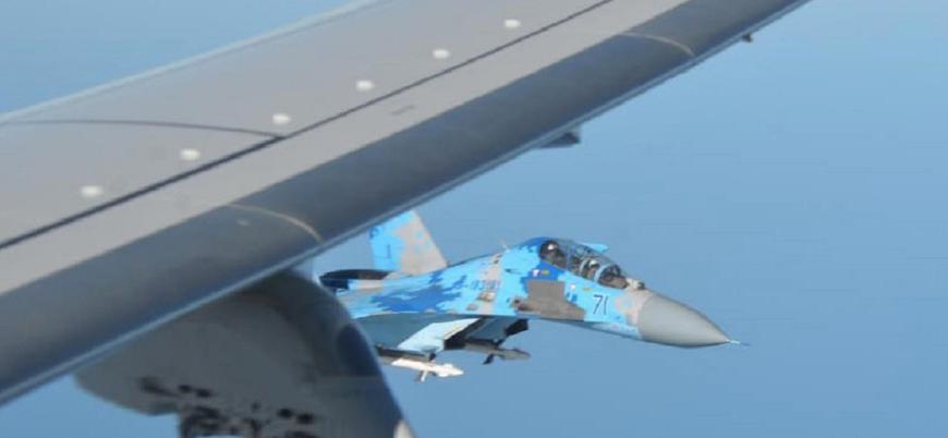 Ukrayna Su-27'leri ABD'ye ait P-8 Posiedon'a eşlik etti