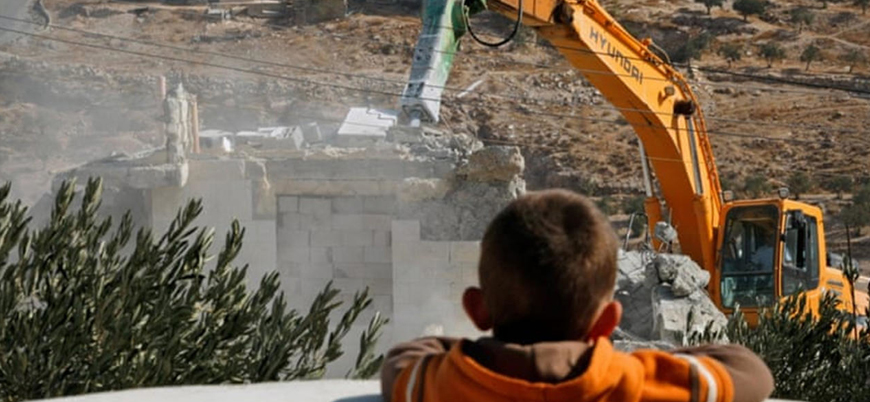 İsrail güçleri bir Filistinlinin daha evini yıktı