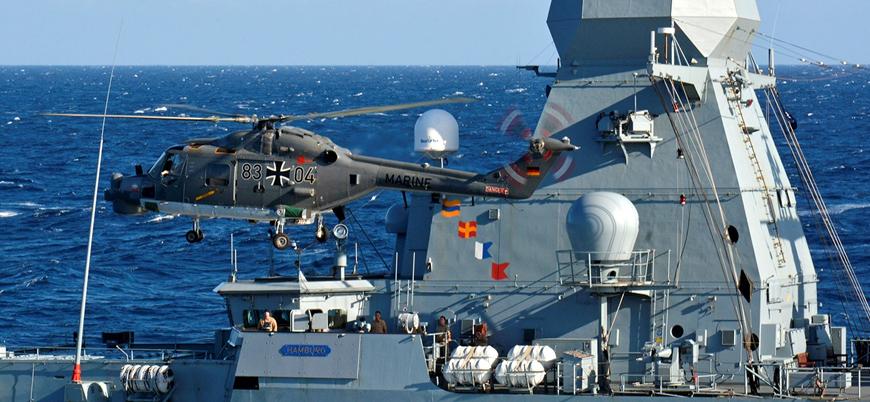 Alman savaş gemisi 'Hamburg' Libya'ya doğru yola çıktı