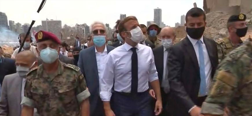Fransa Cumhurbaşkanı Macron: Lübnan'daki siyasi krize müdahale edilmeli