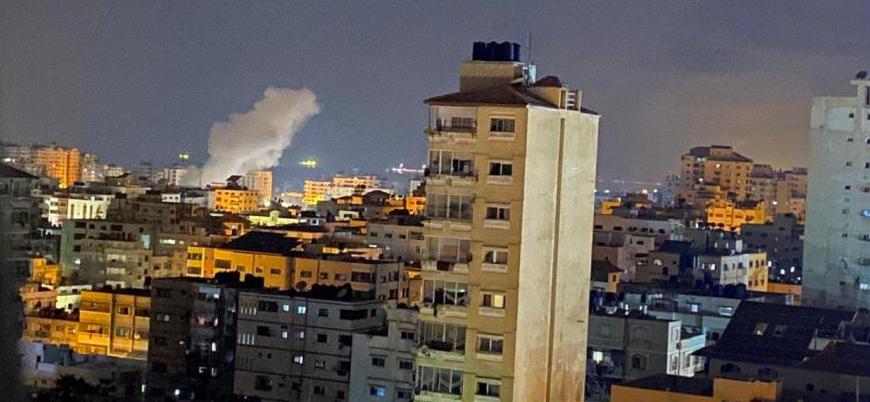 İsrail Gazze'de Hamas'a yönelik hava saldırılarını sürdürüyor