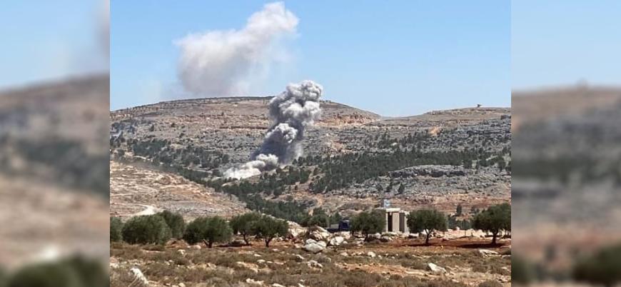 Rus uçakları İdlib'i bombalamaya devam ediyor