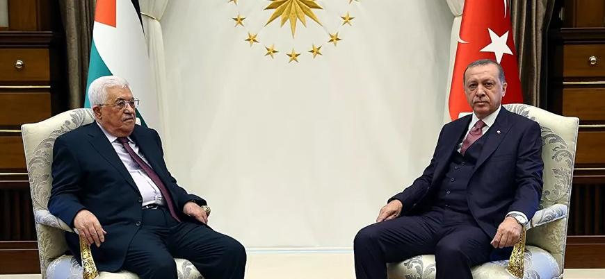 Erdoğan Filistin Devlet Başkanı Mahmud Abbas ile görüştü