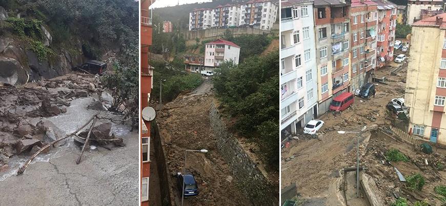 Giresun'daki şiddetli selde 5 kişi hayatını kaybetti
