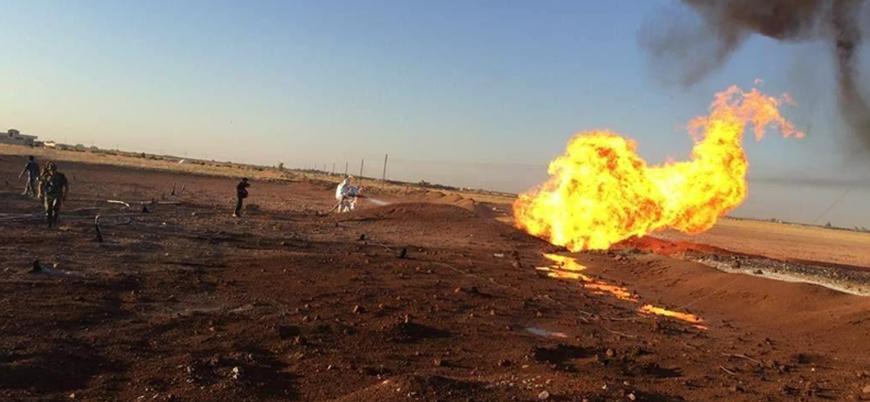 Başkent Şam'da gaz boru hattına saldırı