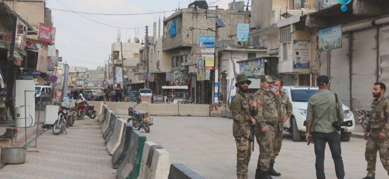 Silahlı gruplar Afrin kent merkezinden çıkarılıyor