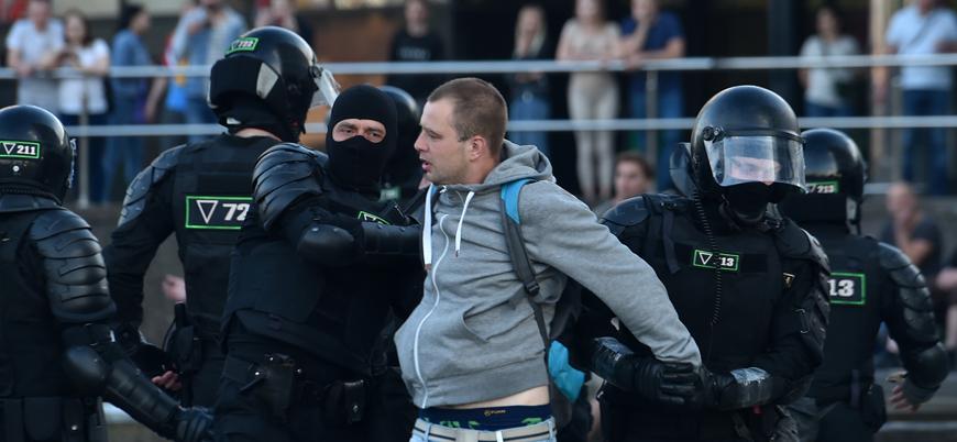 Belarus'taki gösterilerde bir günde 173 kişi gözaltına alındı