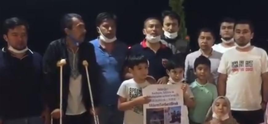 'Çin'e karşı basın açıklaması yapmak isteyen Uygur Türkleri Ankara'ya alınmadı'