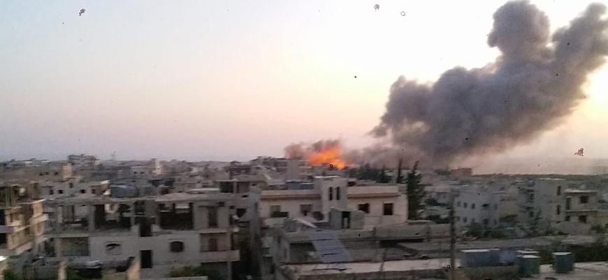 Rusya yeniden İdlib ve çevresini bombalamaya başladı