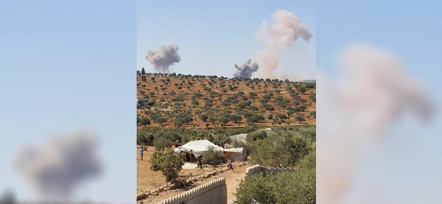 Rus savaş uçakları İdlib'i bombalıyor