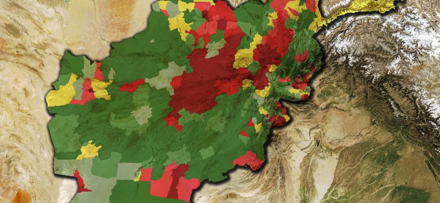 Afganistan son durum haritası (Aralık 2020)