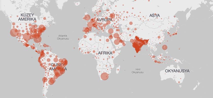 Koronavirüs vaka sayısı 30 milyonu aştı, ölü sayısı 1 milyona yaklaştı