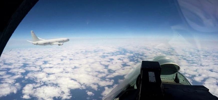 Karadeniz'de Rus jetlerinden ABD keşif uçağına önleme