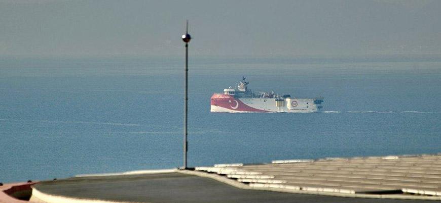 Oruç Reis bakım için geldiği Antalya Limanı'ndan ayrıldı