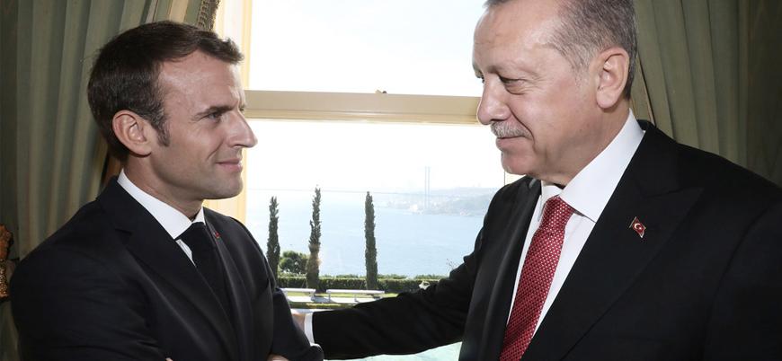 Erdoğan Macron ile telefonda görüştü