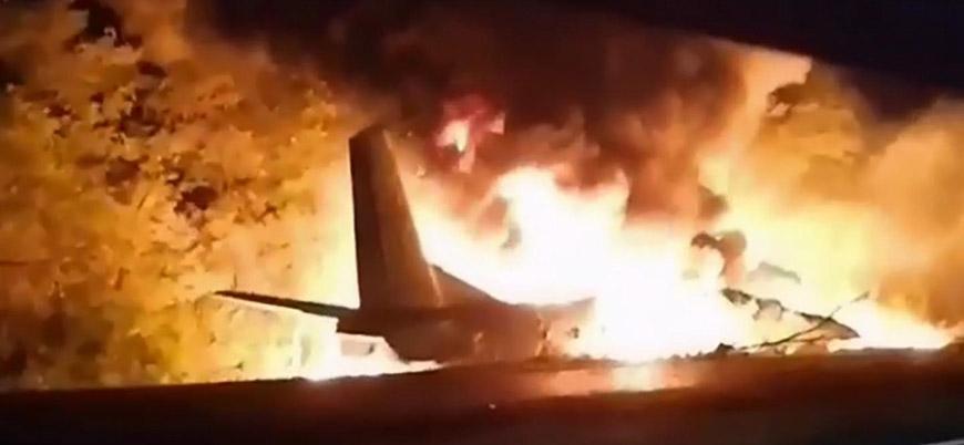 Ukrayna'da askeri uçak düştü: 25 kişi öldü