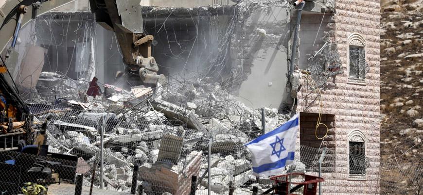 İsrail güçleri Filistinlilerin evlerini yıkmaya devam ediyor