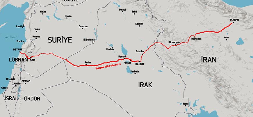 İran'ın Tahran'dan Akdeniz'e uzanan kara köprüsü