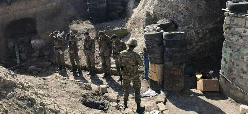 Azerbaycan ordusu cephe hattında Ermeni askerlerini esir aldı