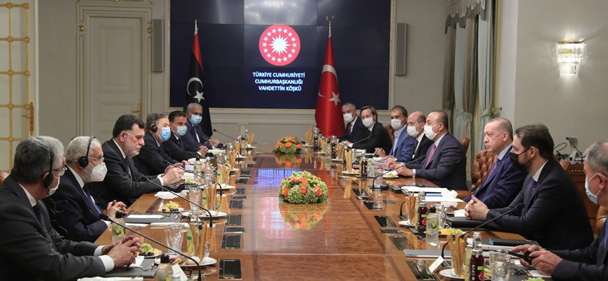 Erdoğan UMH lideri Serrac ile bir araya geldi