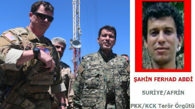 ABD'li komutan, kırmızı listedeki PKK'lıyla