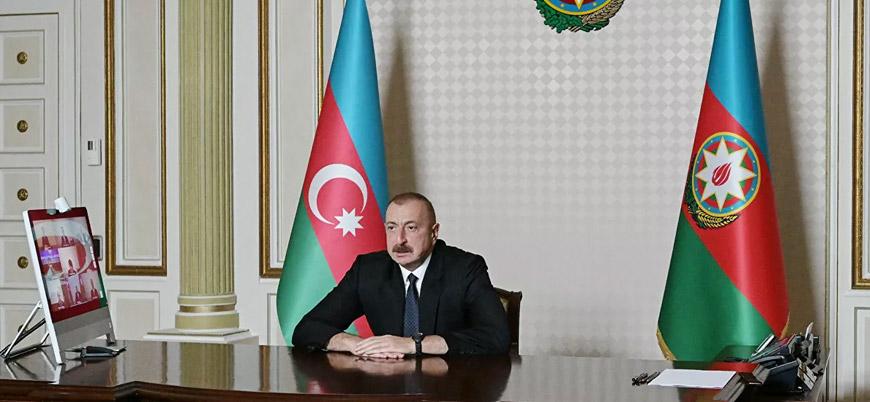 Aliyev: Karabağ'da nihai çözüm için görüşmelere hazırız